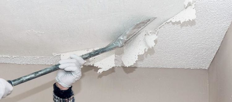 CVE scrapping popcorn ceilings